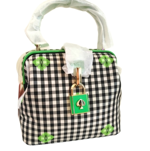 New Kate Spade Remedy Bag Gingham Print
